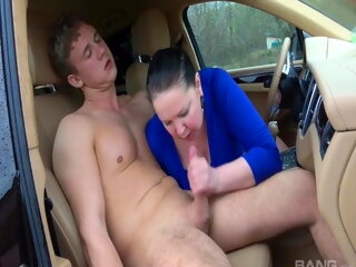 old & young cumshot